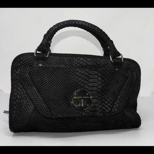 Big Elliott Lucca Black Satchel Suede Handbag NICE
